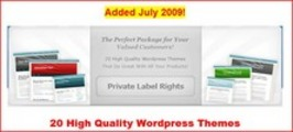 20 High Quality Wordpress Themes PLR
