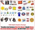 Thumbnail 1600 ClipArt Graphics Package MRR