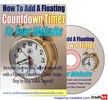 Thumbnail How To Add A Floating Countdown Timer To Your Website MRR!