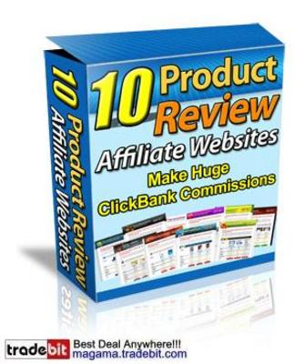 Product picture 10 Product Review Affiliate WebSites MRR!