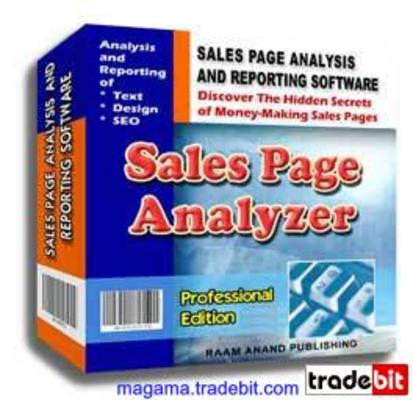 Product picture Sales Page Analyzer Professional Edition PLR!