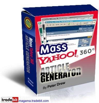 Product picture MASS Yahoo Blog 360 Article Generator MRR!