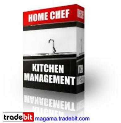 Product picture Home Chef Kitchen Management PLR!