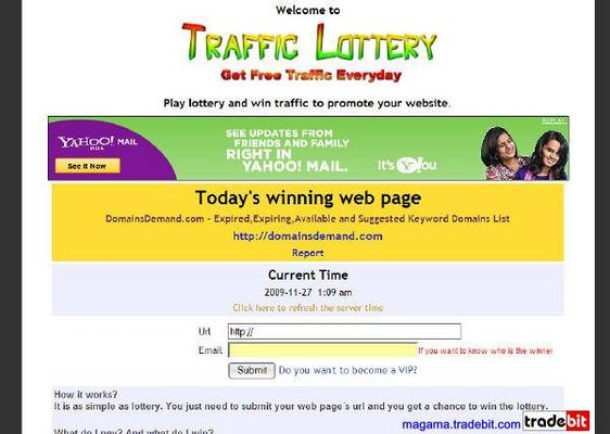 Product picture Traffic Lottery Script MRR!