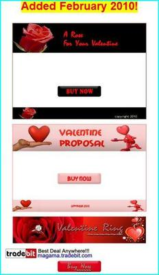 Product picture 5 Valentine s Day Templates Added February 2010 MRR!