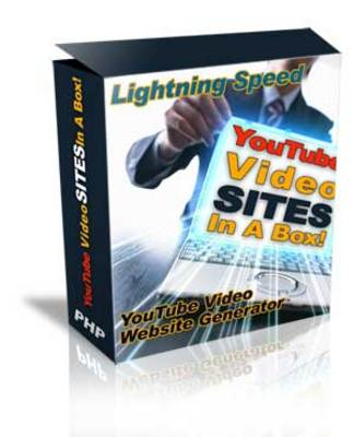 Product picture YouTube Video Sites Generator In A Box Mrr