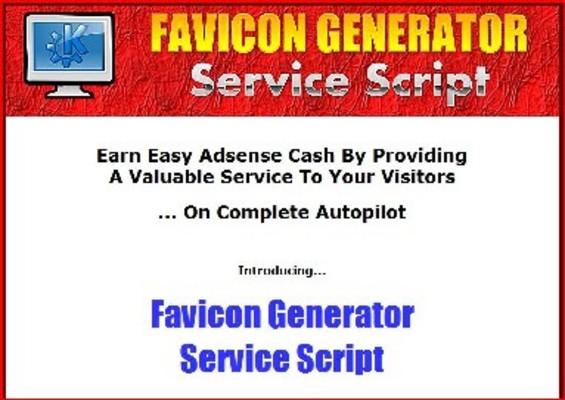 Product picture Favicon Generator Service Script MRR