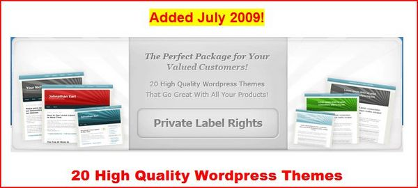 Product picture 20 High Quality Wordpress Themes PLR