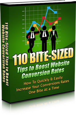 Product picture 110 Bite-Sized Tips To Boost Website Conversion Rates MRR