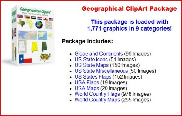 Product picture Geographical ClipArt Package