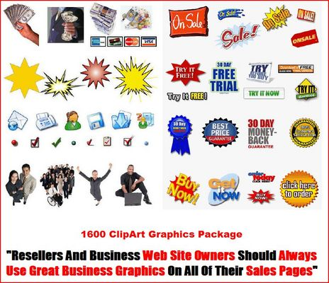 Product picture 1600 ClipArt Graphics Package MRR