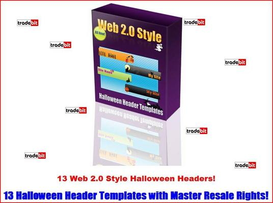 Product picture 13 Web 2.0 Style Halloween Headers MRR