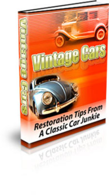 Product picture Vintage Cars PLR and MRR Create Your Ebook