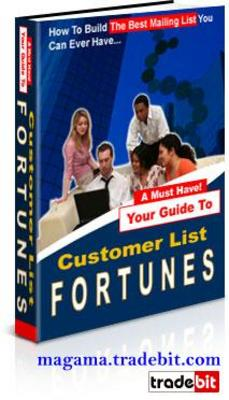 Product picture Customer List Fortunes Ebook MRR