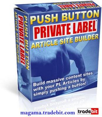 Product picture Push Button Private Label Article Site Builder MRR