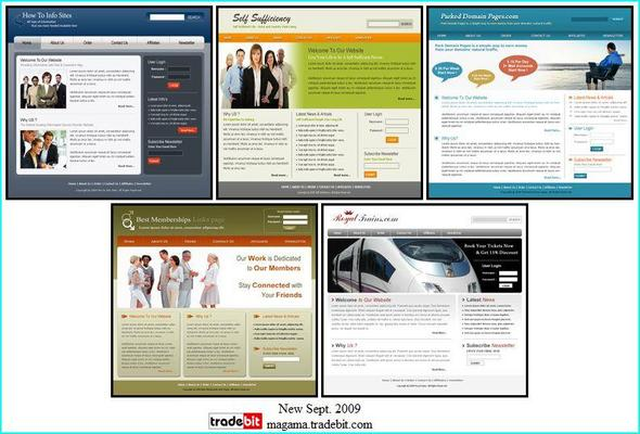 Product picture 5 Brand New HTML Themes Master Resale Rights!