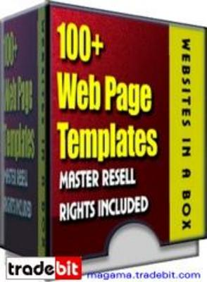 Product picture 100+ Web templates Master Resell Rights!
