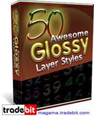 Product picture 50 Awesome Glossy Layer Styles Master Resale Rights!