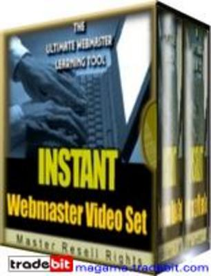 Product picture Instant Web Master Video Set MRR!