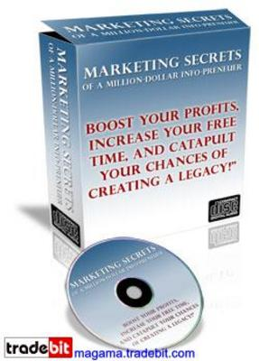 Product picture MARKETING SECRETS OF A MILLION -DOLLAR INFO-PRENEUR MRR!