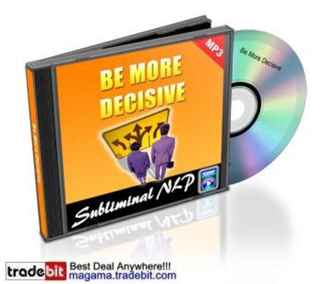 Product picture Subliminal NLP Track Be More Decisive MRR!