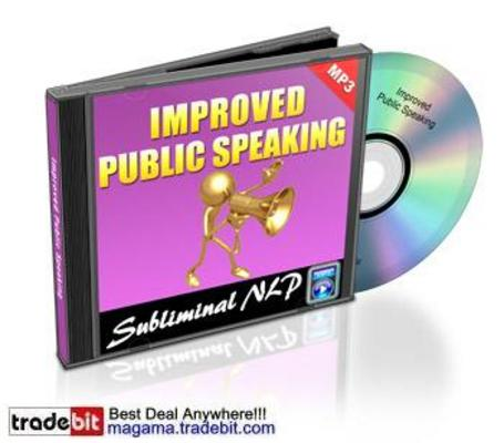 Product picture Subliminal NLP Track Improved Public Speaking MRR!