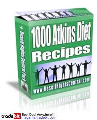 Product picture 1000 Atkins Diet Recipes MRR!